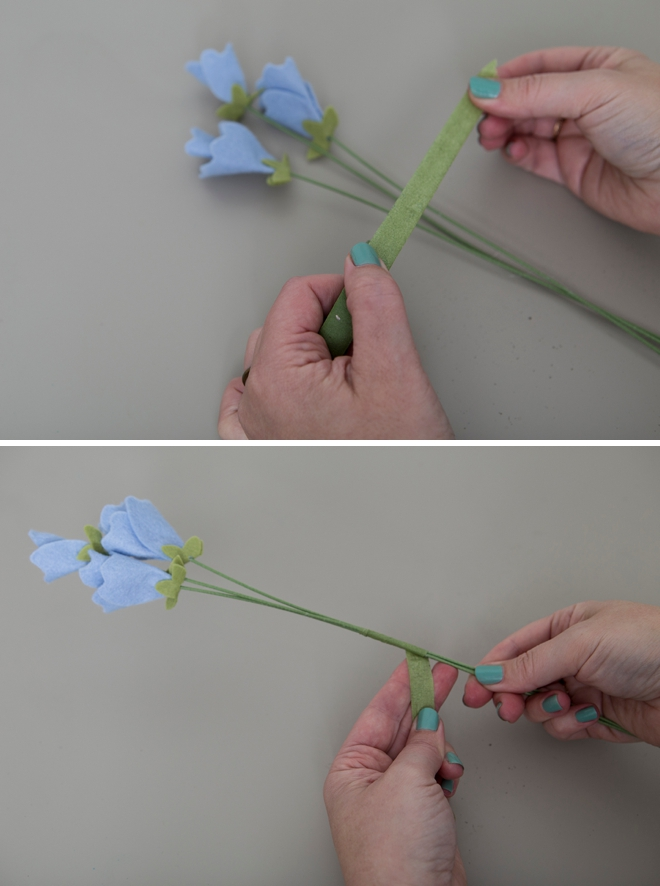 How to make the most adorable sweet pea flowers out of felt!