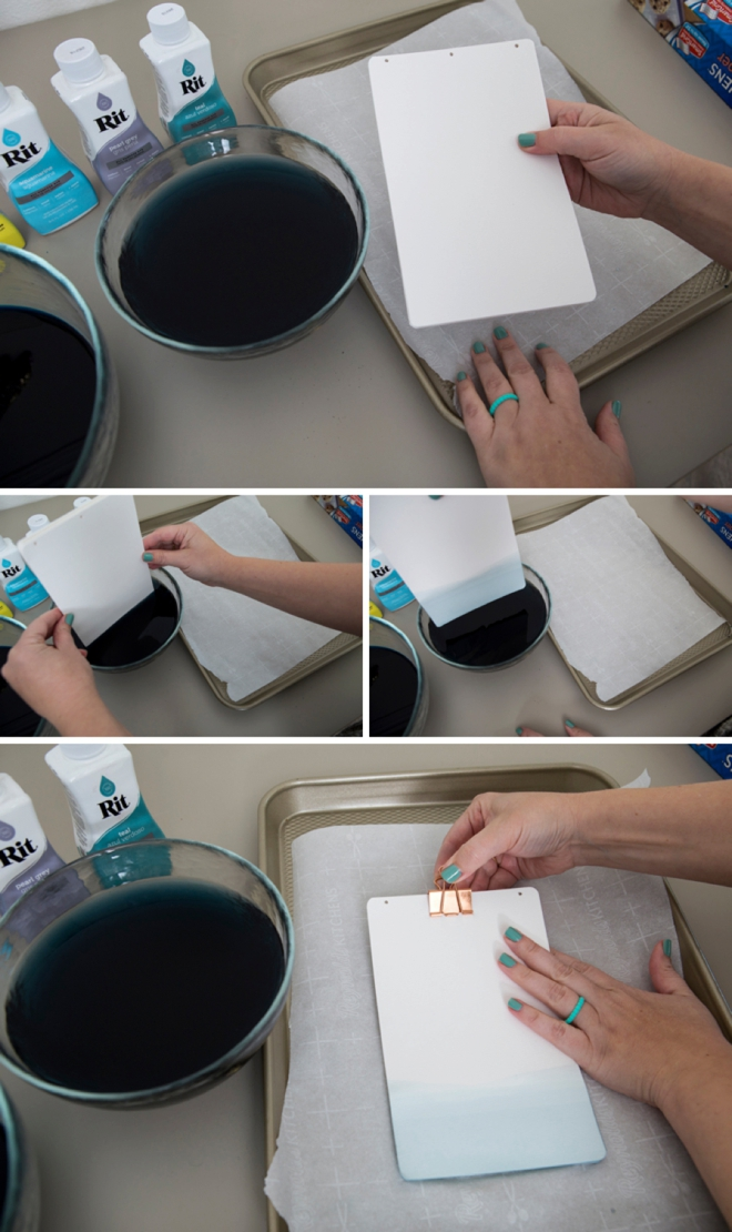 Make your own custom dyed leather guest book!