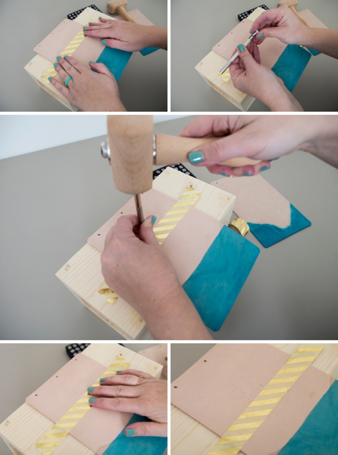 Make a leather guest book and then hand-dye it too!