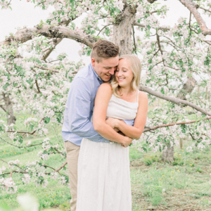 We're crushing on this sweet couple and their gorgeous Spring engagement!