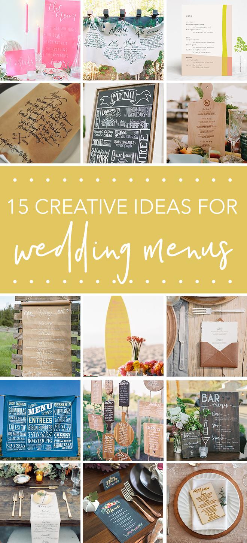 15 Creative Menu Ideas