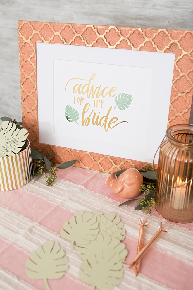 Learn how to make an adorable bridal advice display!