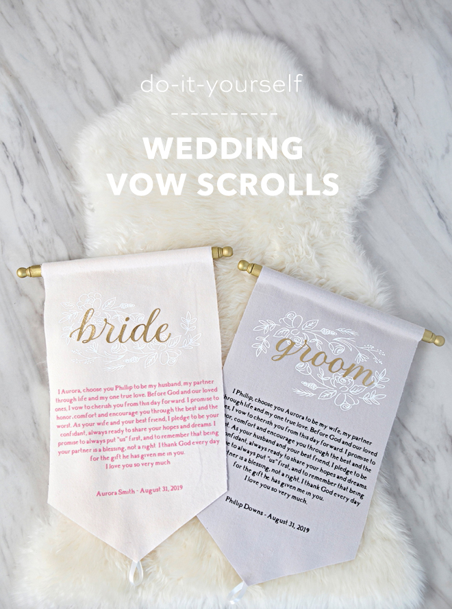 How to make amazingly unique wedding vow scrolls!