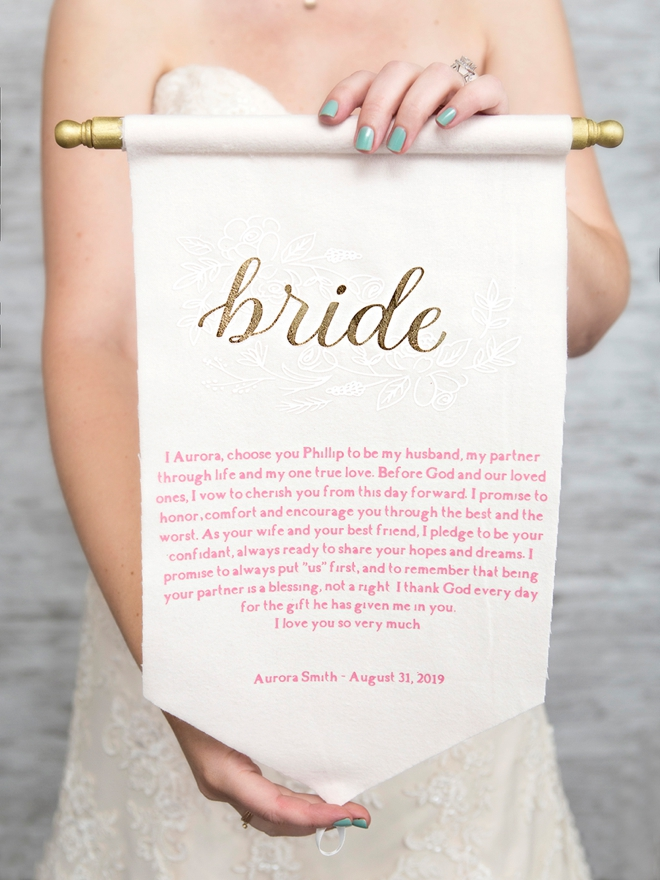 Wow, DIY wedding vow scrolls, super cute and unique!