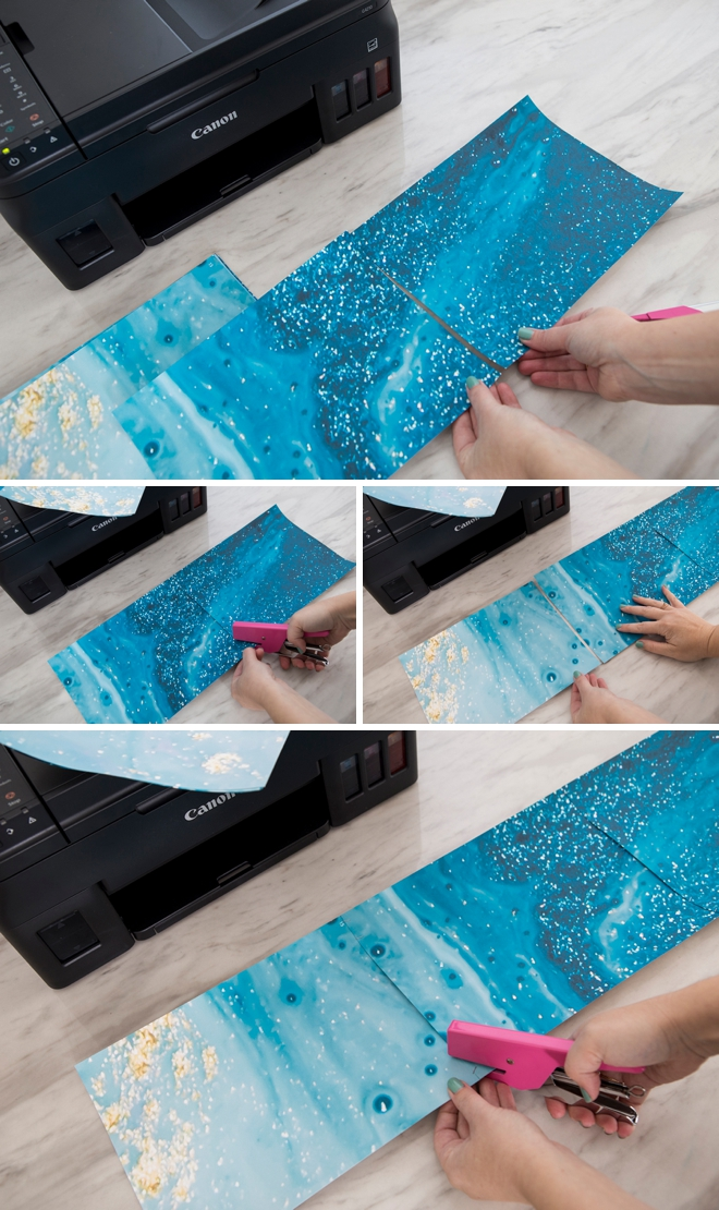 WOW! Print this amazing teal marble backdrop using your home printer!
