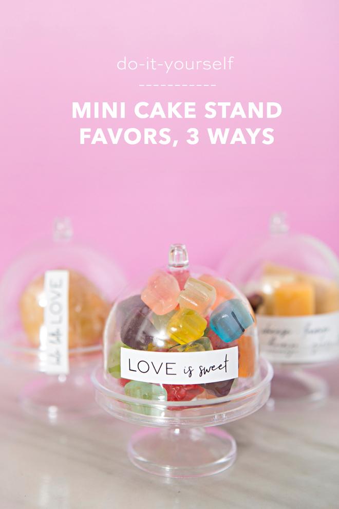 DIY Mini Cake Stand Wedding Favors in three different ways!