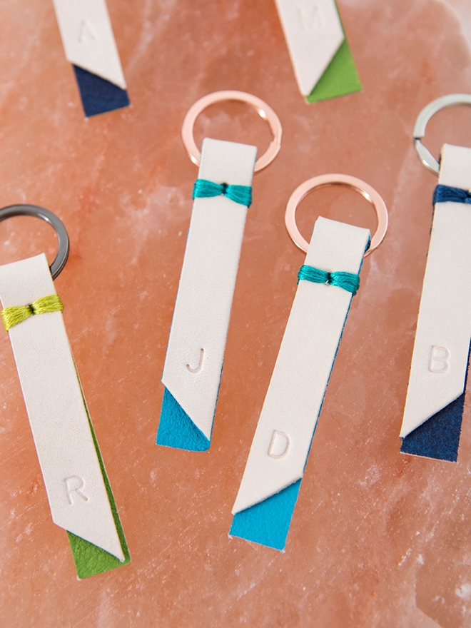 Learn how to make your own darling stamped key chains!