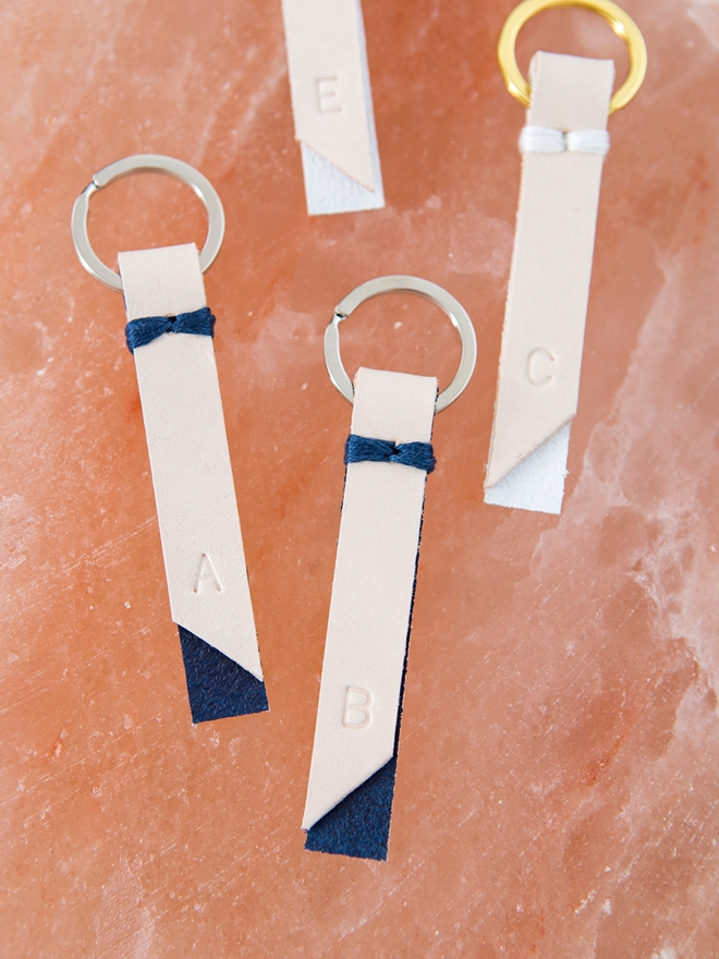 How to make the sweetest stamped and painted personalized key chain gifts!