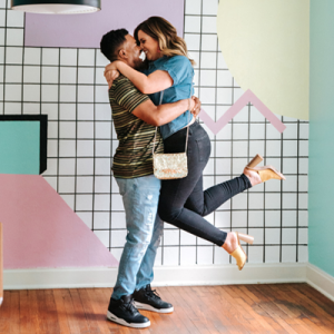How FUN is this Saved by the Bell themed engagement session?! LOVE!