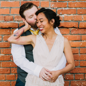 We love this non-traditional Mr. and Mrs. and their darling handmade day!