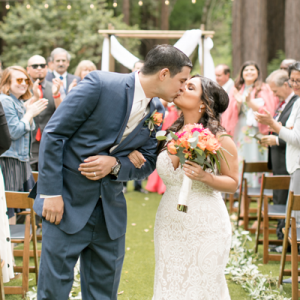 We can't get enough of this gorgeous Mr. and Mrs. and their Santa Cruz mountain wedding!