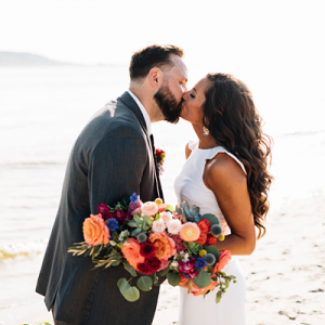 We're in LOVE with this stunning backyard Sandy Hook wedding!