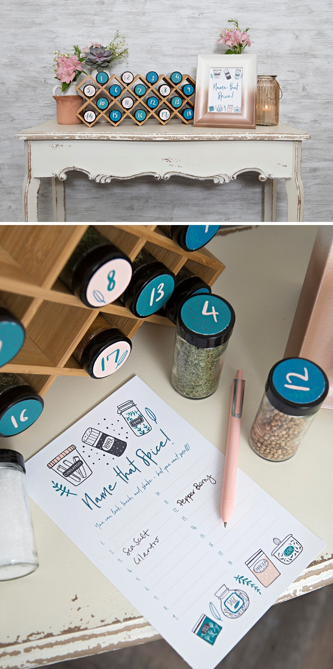 Make your own Name that Spice game for your next bridal shower!