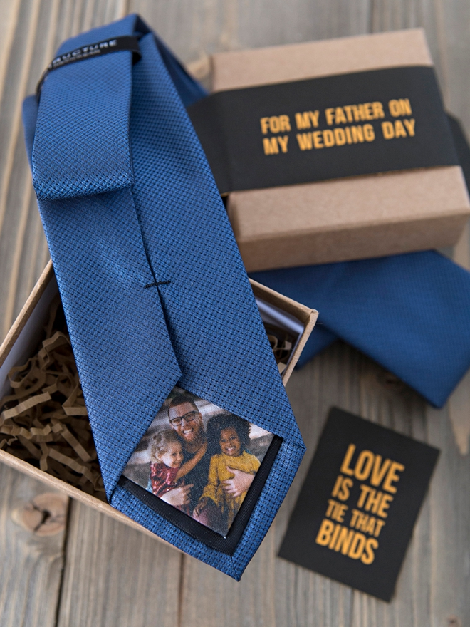 Learn how to make your own Photo Tie Patches, perfect Dad gift!