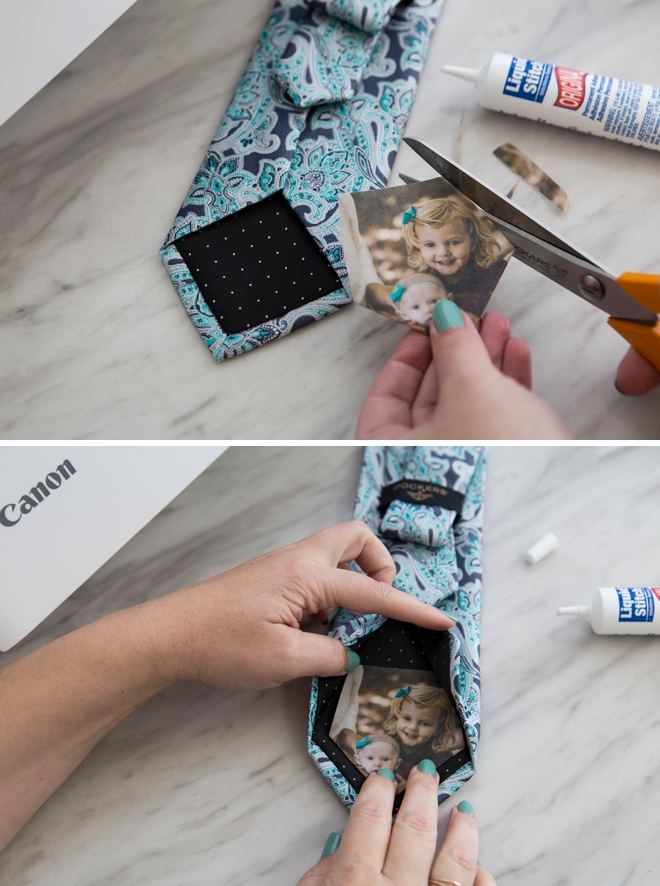 These photo tie patches are SUPER easy to make! No sewing!