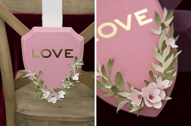 How to make your own stunning reception chair signs!