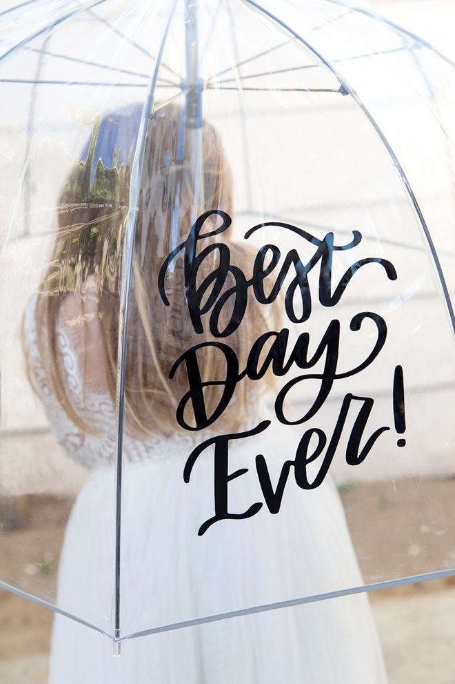 Learn how to make your own wedding day umbrella!