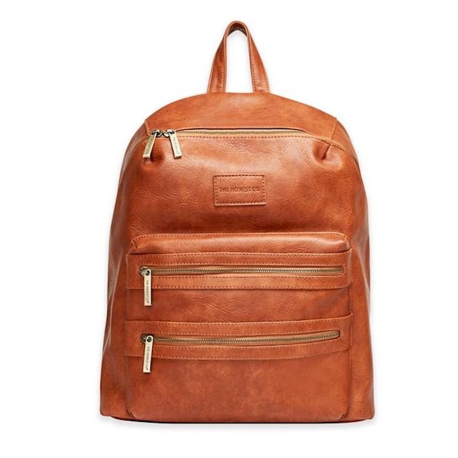 I looooove the Honest Company. This is a vegan leather diaper bag that doesn't even look like a diaper bag! The backpack would be so useful too.