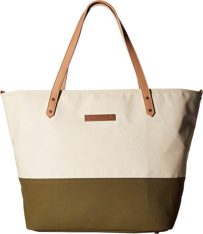 Would you believe this is a diaper bag?! So chic and stylish. You could even wear this tote to the office!