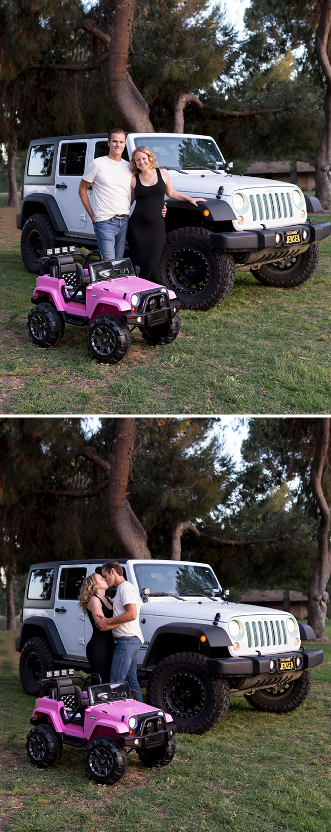 Mini Jeep vs. Real Jeep Pregnancy Announcement