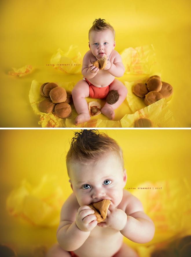 OMG, how freaking adorable... cheeseburger smash cake alternative!