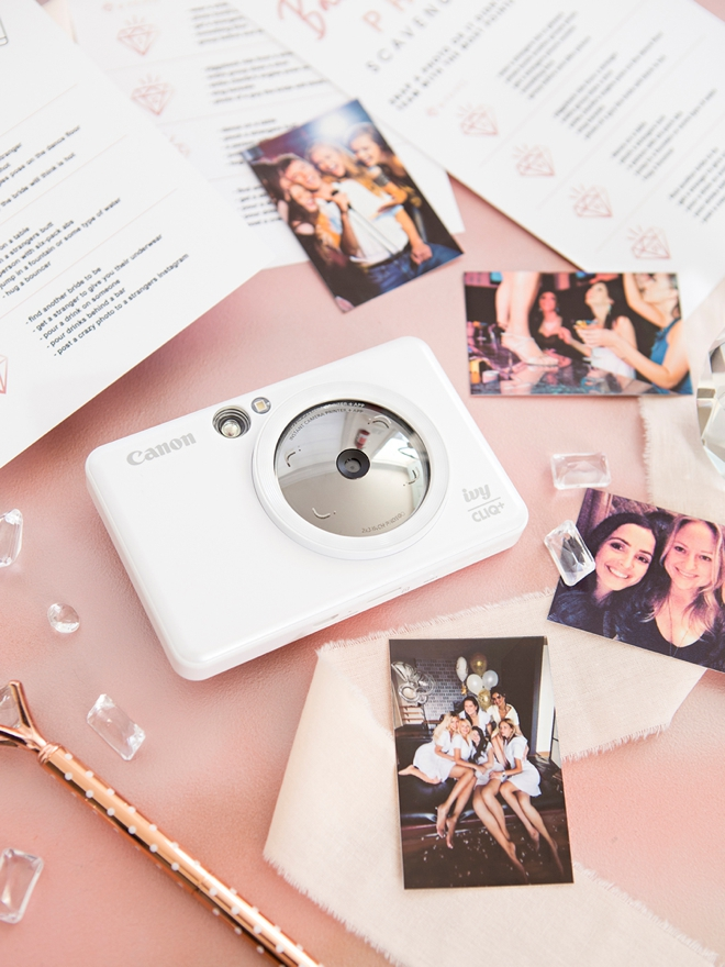 Use the Canon Ivy CLIQ+ for your bachelorette photo scavenger hunt!