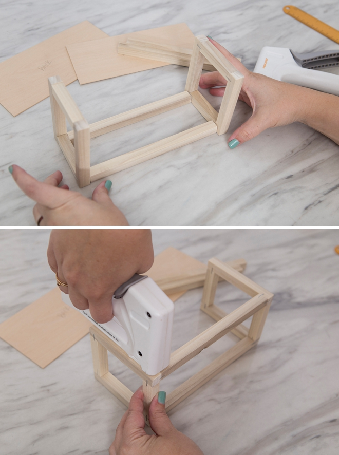 Learn how to make this makeup shelf without using power tools!