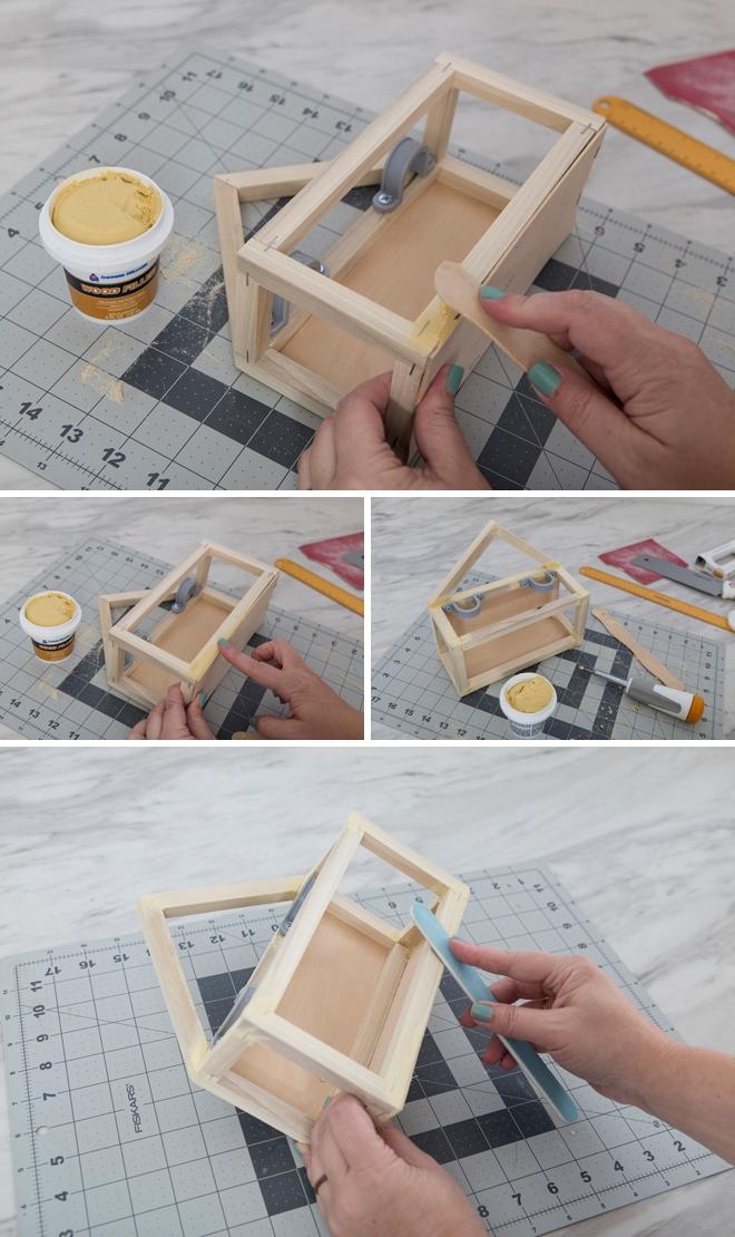 This custom DIY makeup shelf is just WAY too cute!