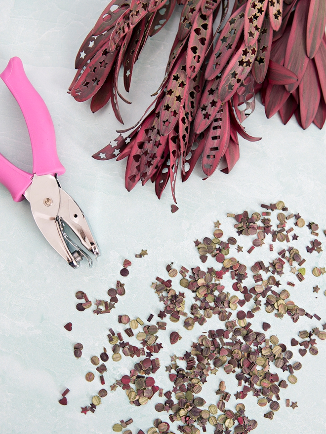 Wow, you can make your own confetti out of hole punching leaves!