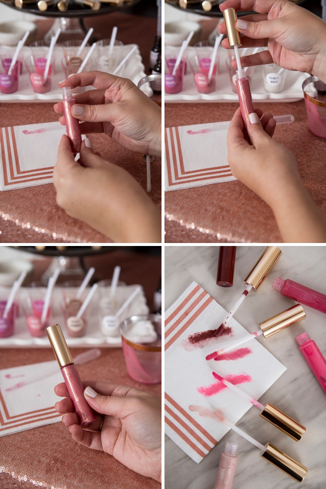 WOW, this DIY lip gloss bar is amazing!!