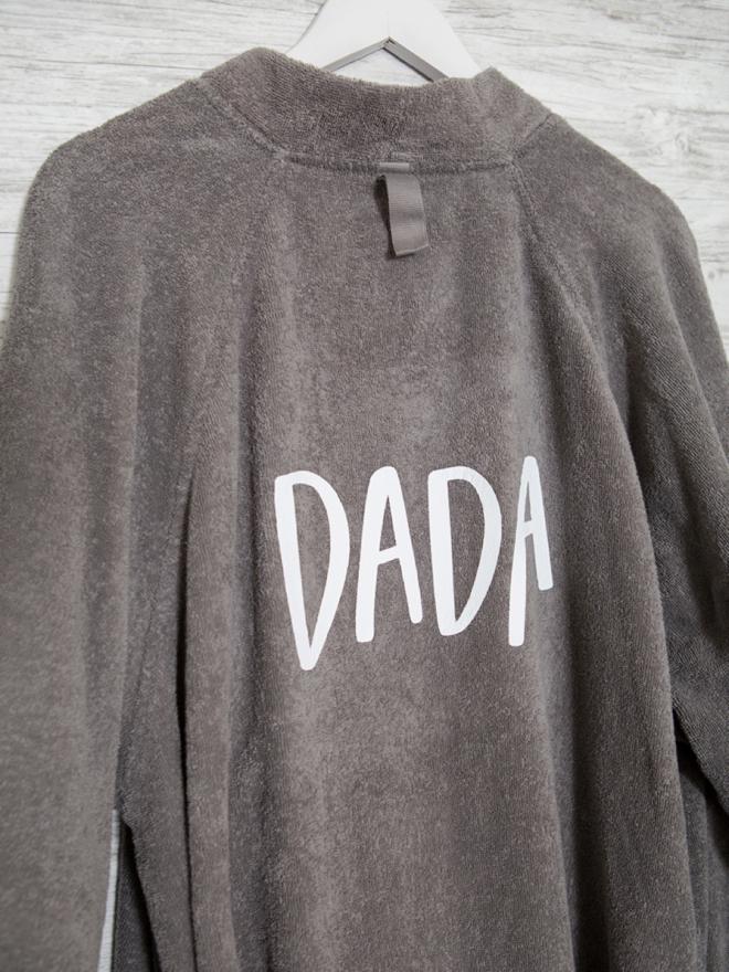 Dada needs a custom robe, of course!