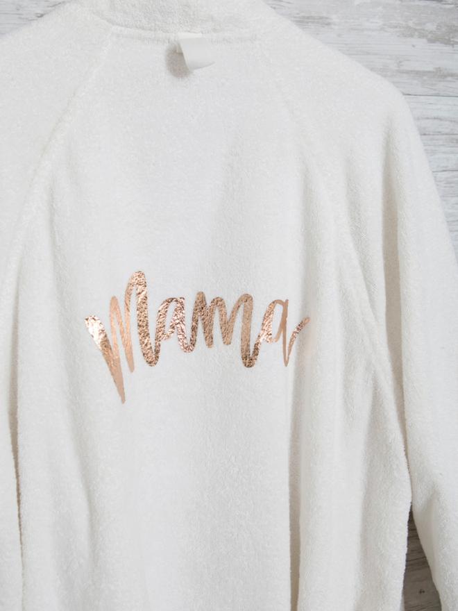 Mama needs a custom robe, of course!