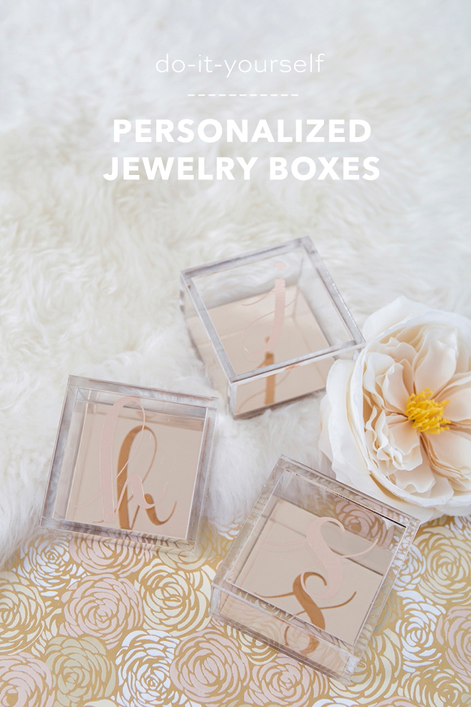 Learn how to personalize these rose gold boxes as darling gifts!