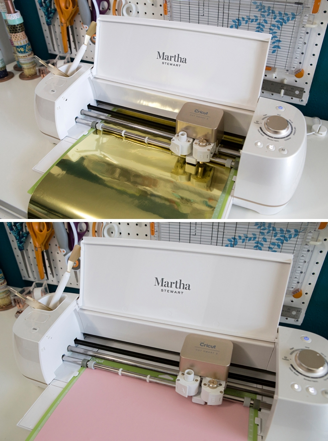 Use your Martha Stewart Cricut to personalize everything for your wedding!