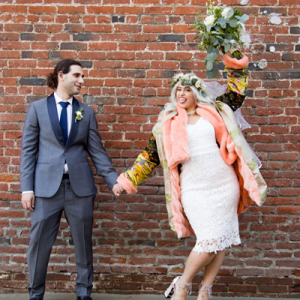 This super bright and colorful DIY wedding is SO fun! Don't miss it!