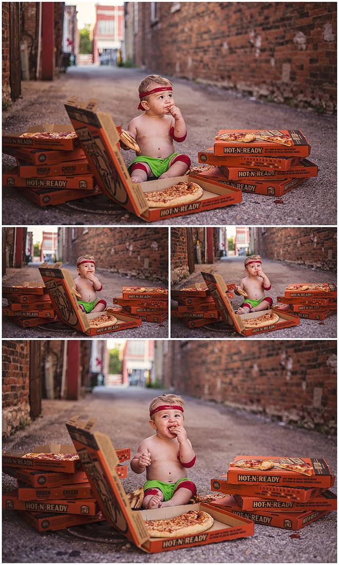 Pizza smash, cake alternative for babies birthday!