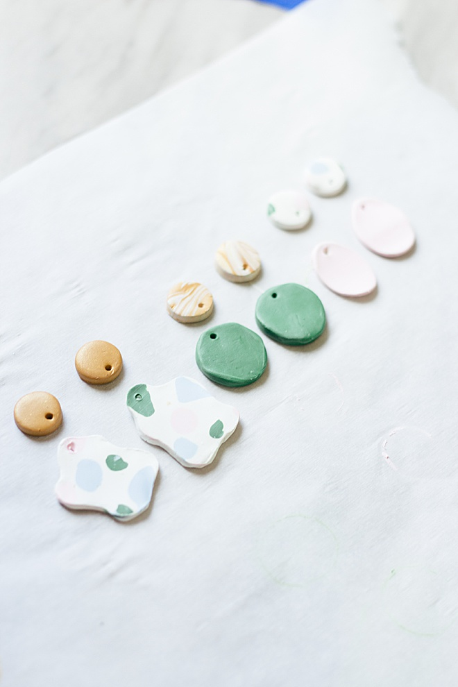 How CUTE are these DIY clay baked bridesmaid earrings?