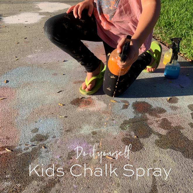 DIY Kids Spray Chalk- PERFECT to use broken pieces of sidewalk chalk