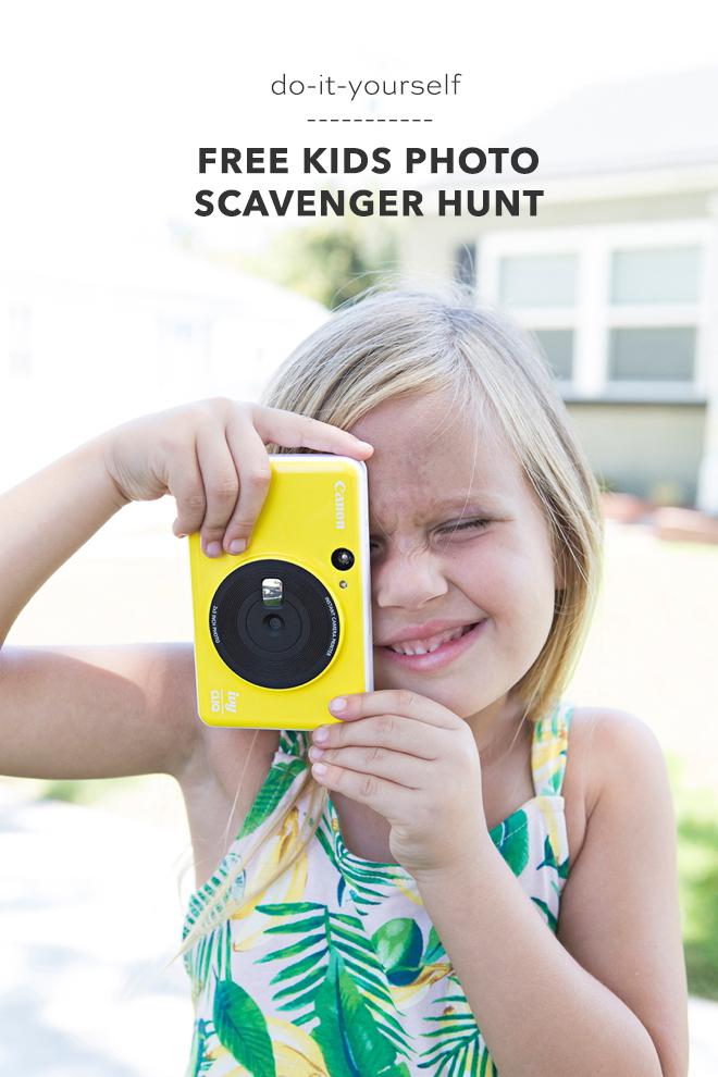 Free printable kids photo scavenger hunt games!