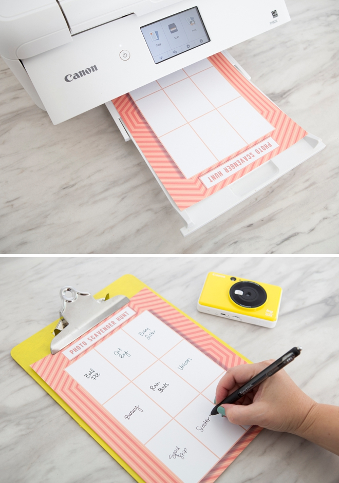 This kids photo scavenger hunt idea is so cute, fill in your own things to shoot!!