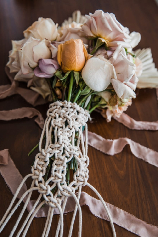 How To Create A Macrame Floral Bouquet Wrap