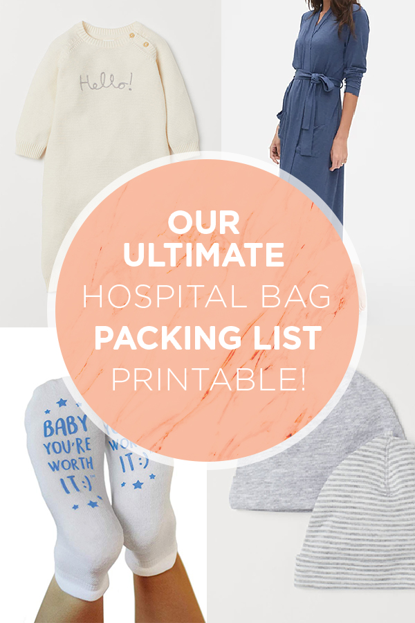 Our ultimate hospital bag packing list printable... check it out mamas!