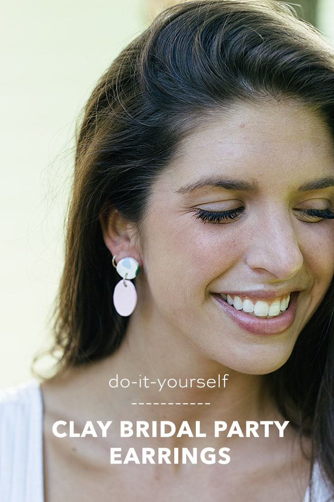These clay baked earrings are modern and easy to make! You can gift them to your bridesmaid and also make a pair for yourself!