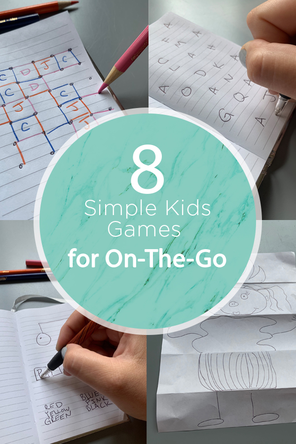 These super simple kids games are perfect for on the go entertainment!