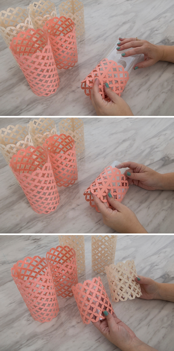 Make your own acetate and paper hurricane lanterns, so easy!