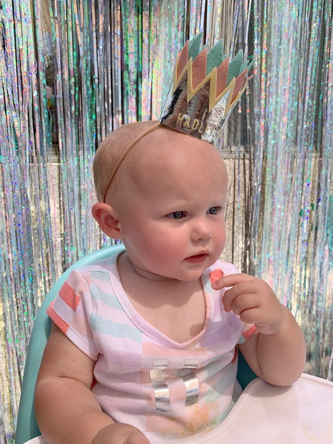 Cut out and make this custom felt baby crown using your Cricut Maker!