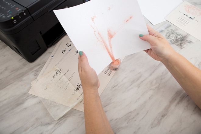 Learn how to stamp and emboss these free wedding invitations!
