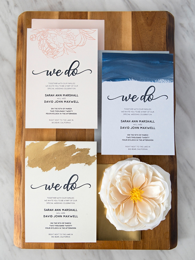 Learn three different ways to personalize these free wedding invitations!