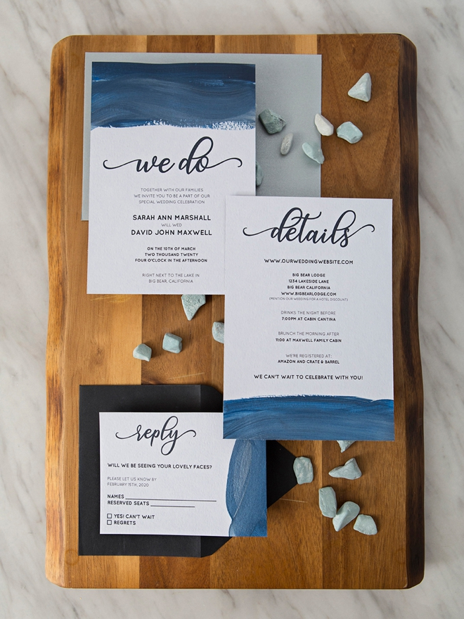 Learn how to hand paint these free wedding invitations!