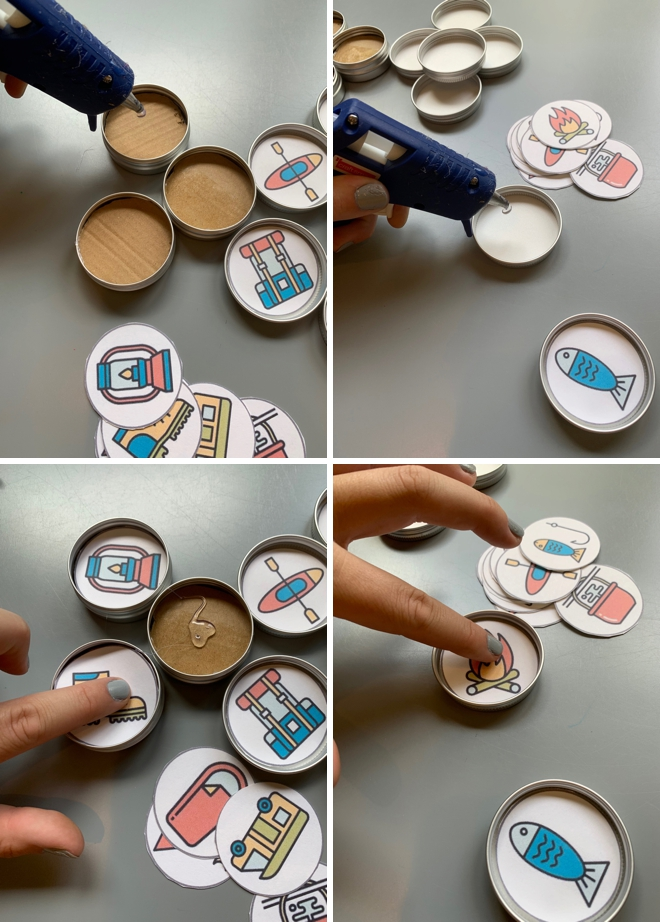 How to make creative modern story starter magnets that are perfect to inspire creative thinking in kids!